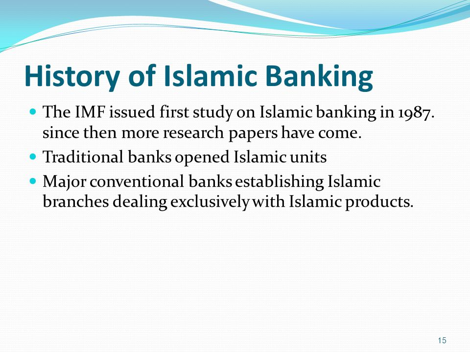 research paper islamic banking Get relevant, unique islamic finance research topics online when writing a phd in islamic banking and finance or any research paper, one of the main considerations would be the quality of your topic.