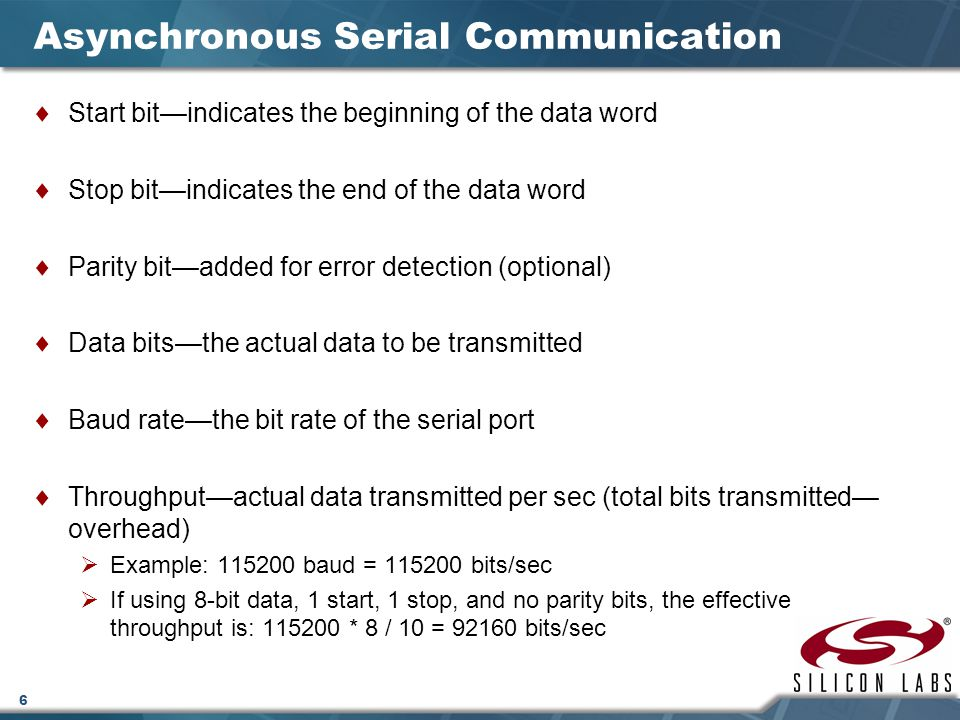 Lecture 10 serial communication ppt video online download - How to determine the baud rate of a serial port ...