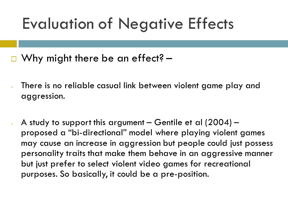 """the negative effects of violent computer While some reports have linked video games to negative consequences such as obesity, attention problems, poor school performance and video game """"addiction,"""" most research has focused on the effects of violent games."""