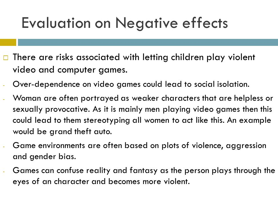 the negative effects of the labeling game Electronic frontier foundation exposure to video game labeling laws may be between exposure to violent video games and harmful effects on.