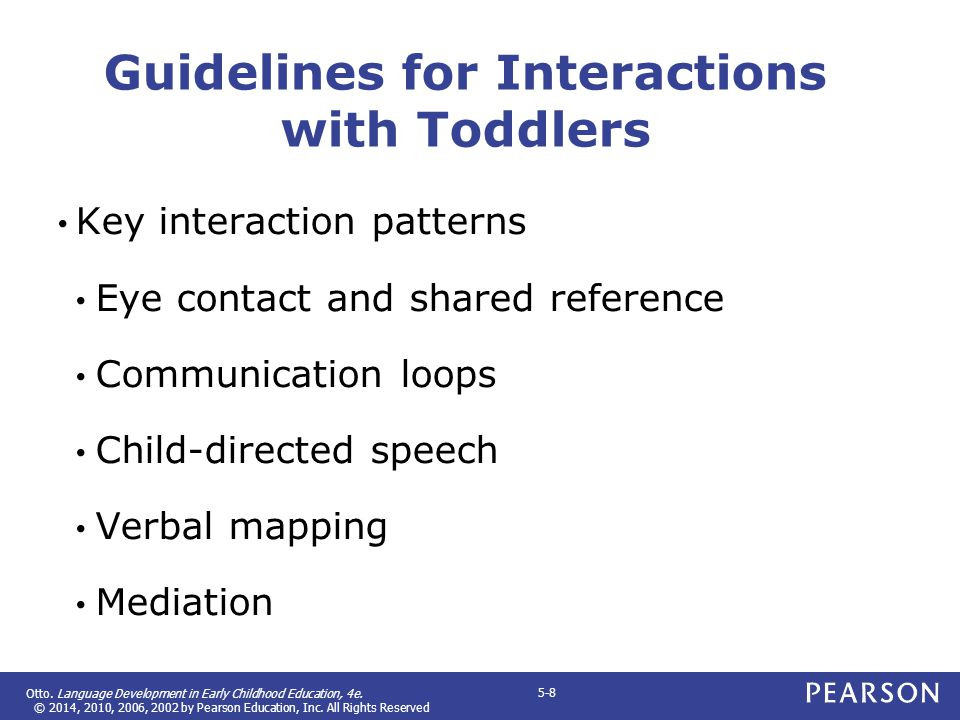 Guidelines for Interactions with Toddlers