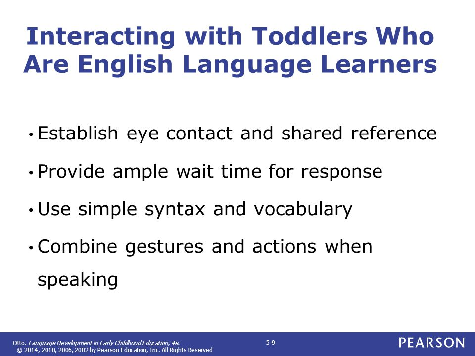 Interacting with Toddlers Who Are English Language Learners