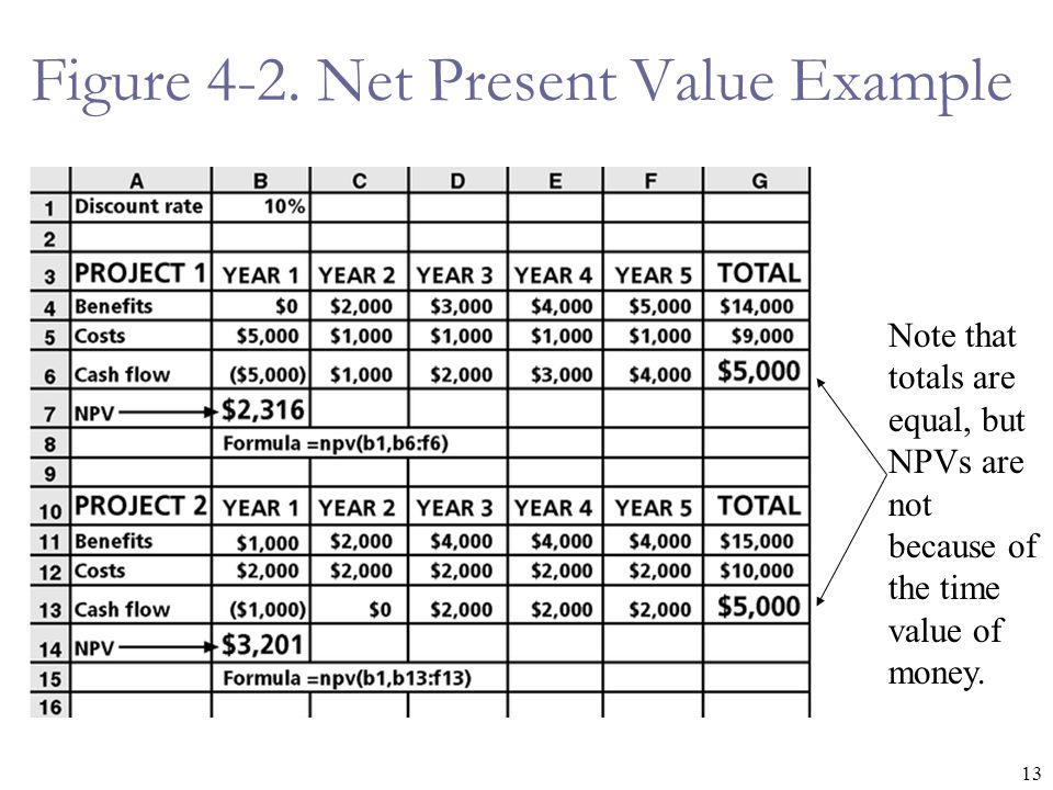 Figure 4-2. Net Present Value Example