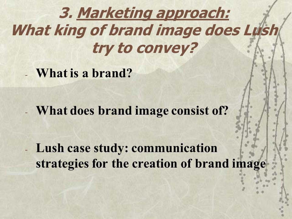 3. Marketing approach: What king of brand image does Lush try to convey