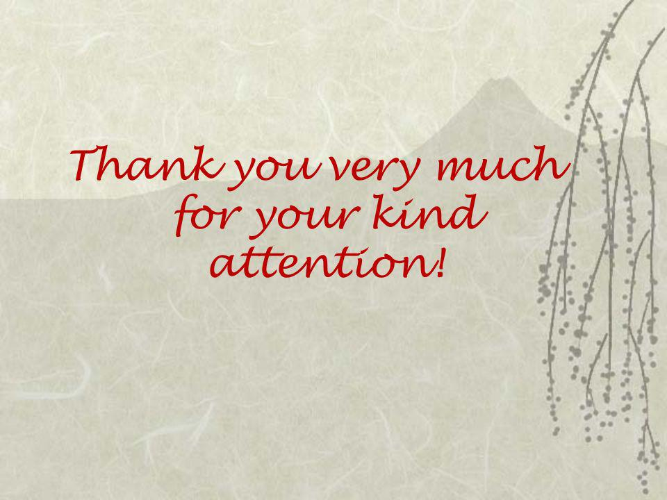 Thank you very much for your kind attention!