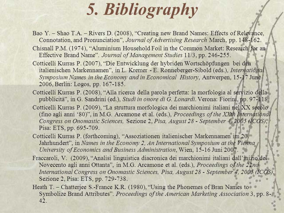 5. Bibliography