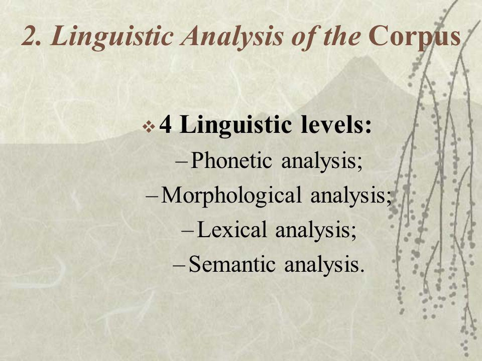 2. Linguistic Analysis of the Corpus