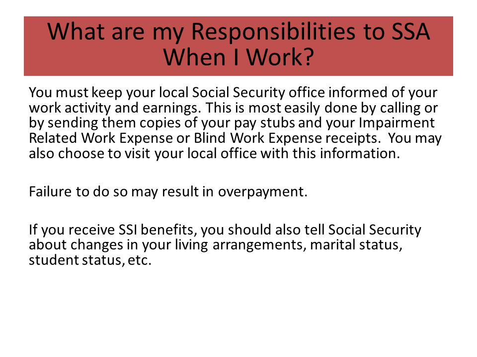 Transition students and disability benefits ppt download - Local social security administration office ...