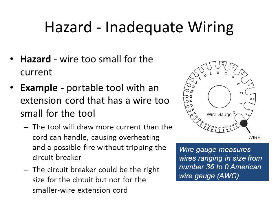 Hazard inadequate wiring ppt video online download hazard inadequate wiring greentooth Image collections