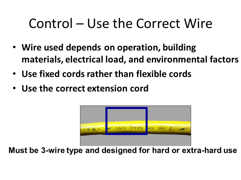 Hazard inadequate wiring ppt video online download 7 control publicscrutiny Choice Image