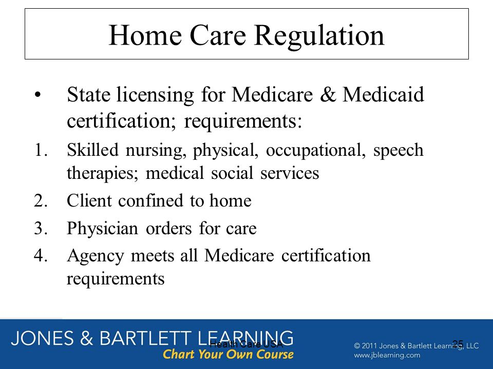 licensing requirements and accreditation affecting long term Licensing/accreditation requirements.