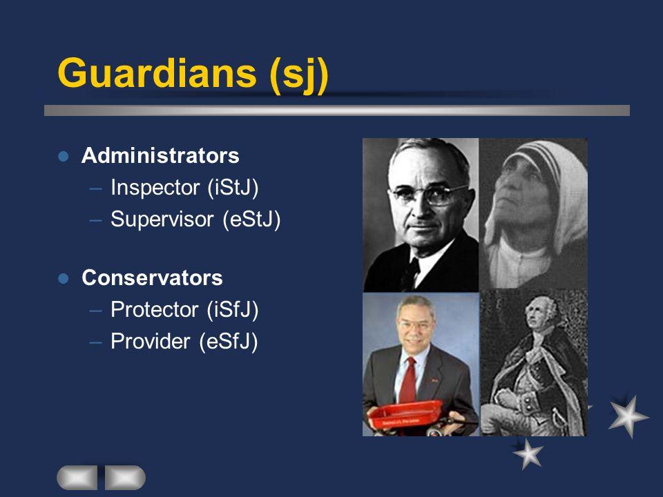 Guardians (sj) Administrators Inspector (iStJ) Supervisor (eStJ)
