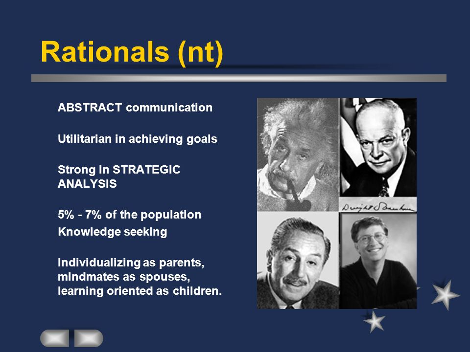 Rationals (nt) ABSTRACT communication Utilitarian in achieving goals