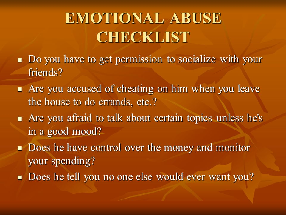 how to leave an emotionally abusive relationship when you have no money