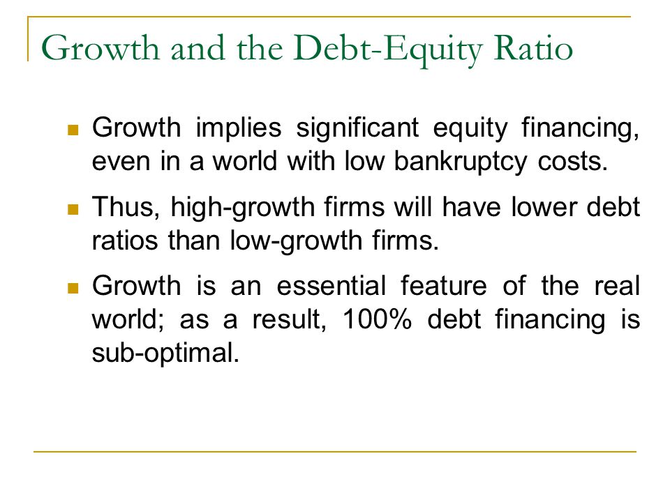 expansion finance and debt equity ratio Key difference – debt ratio vs debt to equity ratio companies pursue various growth and expansion strategies with the intention of making higher profits.