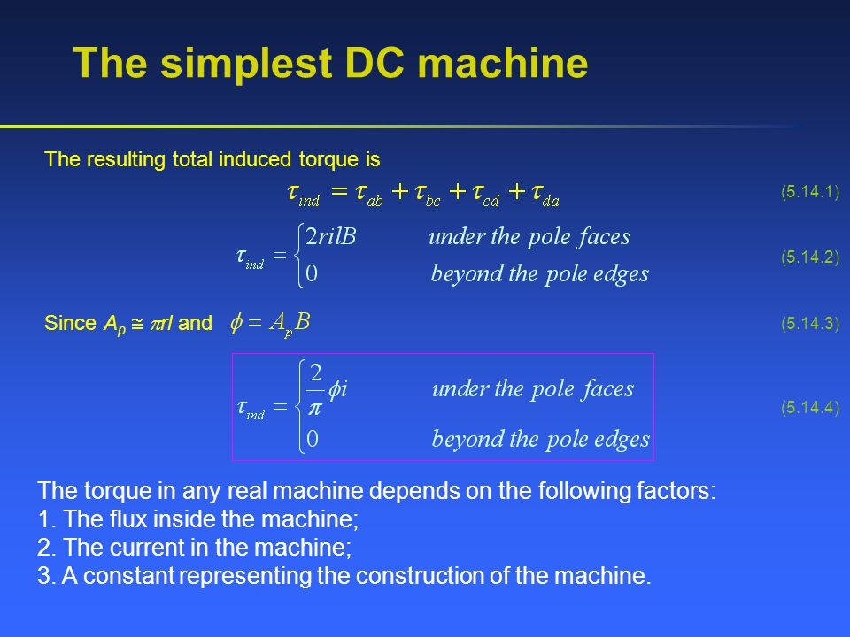 The simplest DC machine