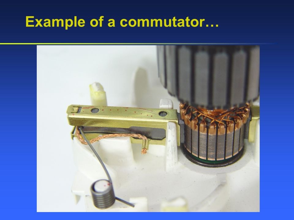 Example of a commutator…