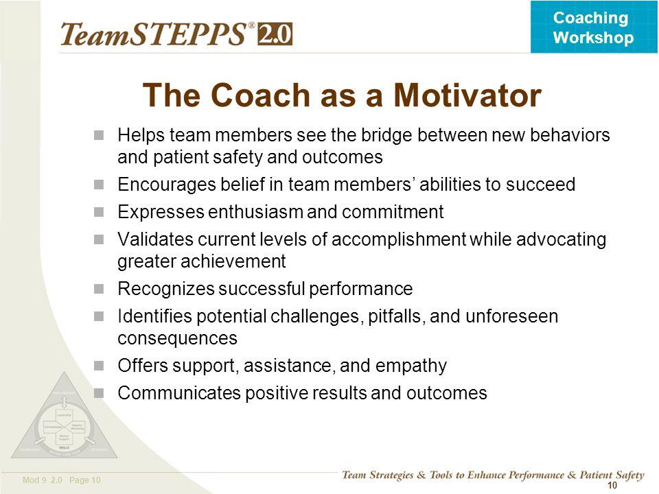 The Coach as a Motivator