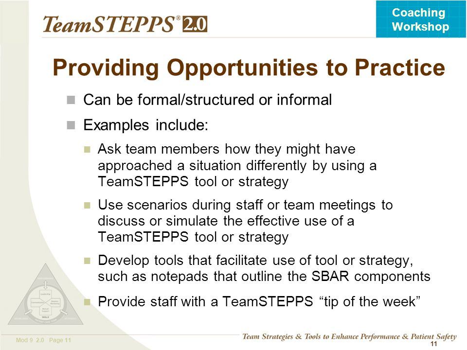 Providing Opportunities to Practice