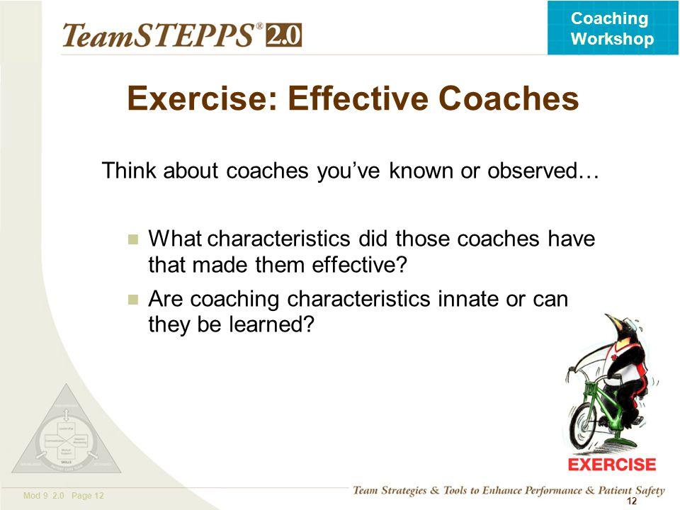 Exercise: Effective Coaches
