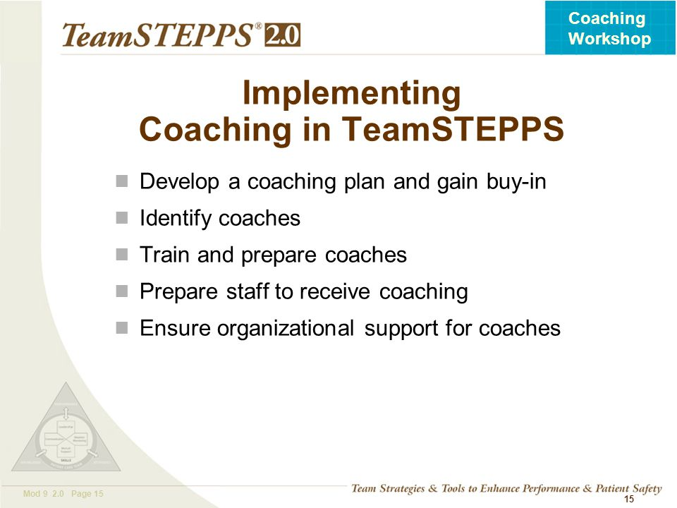 Implementing Coaching in TeamSTEPPS