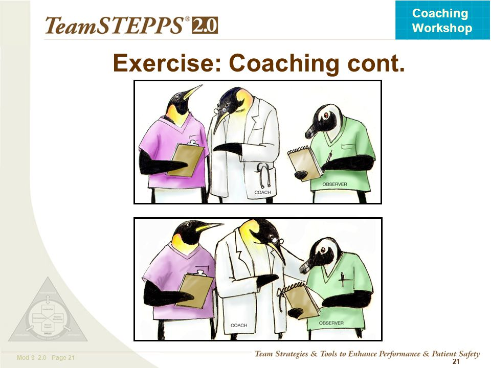 Exercise: Coaching cont.