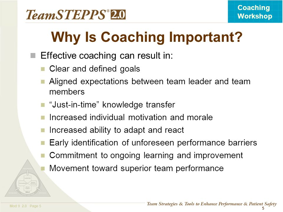Why Is Coaching Important