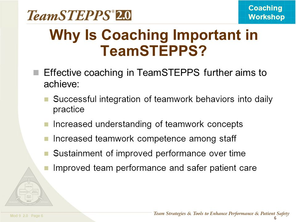 Why Is Coaching Important in TeamSTEPPS