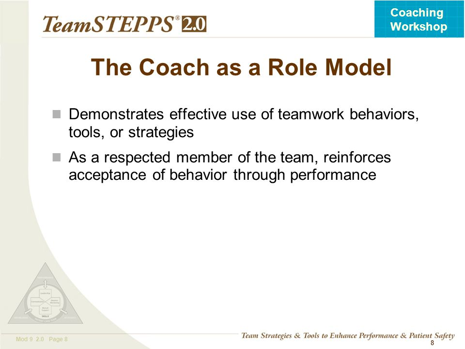 The Coach as a Role Model