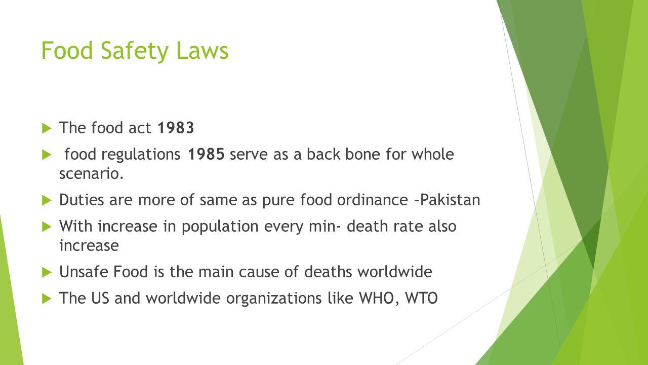 food safety legislation in pakistan identifying