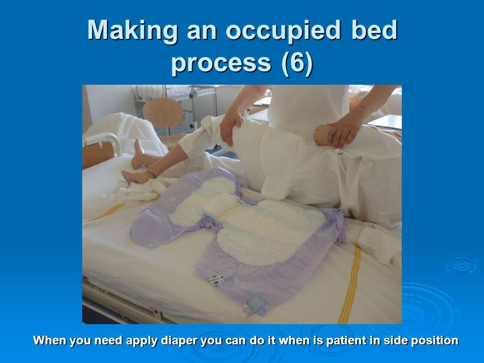 Occupied Bed Making Procedure