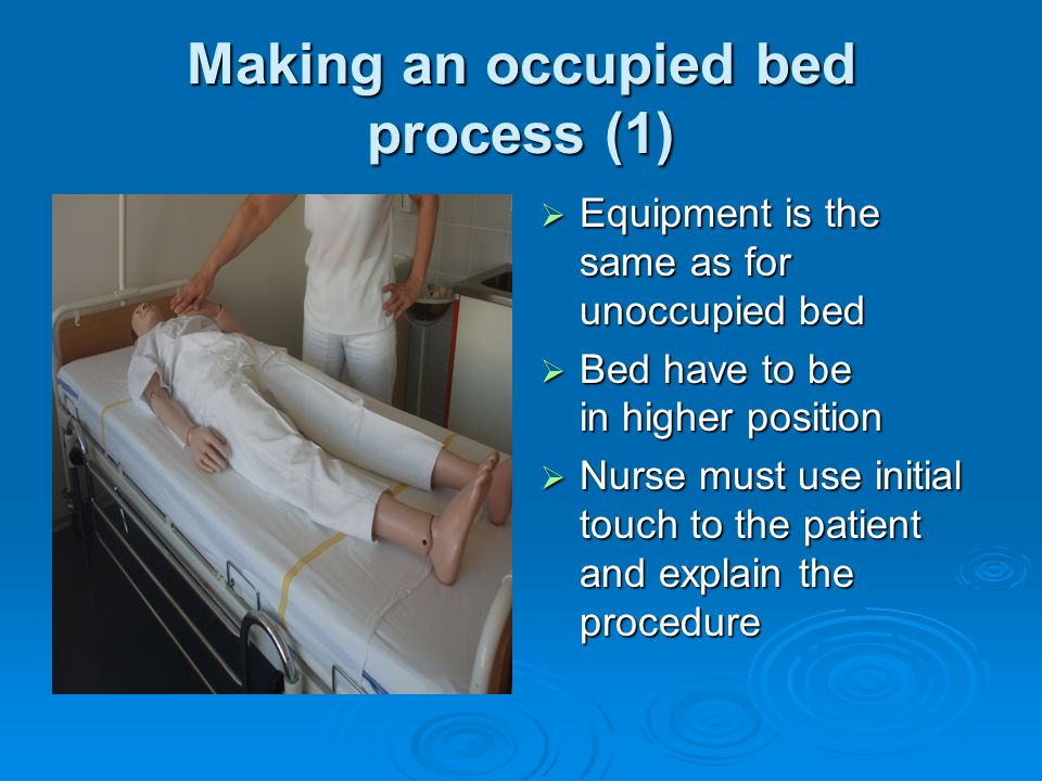 bed making procedure in nursing pdf