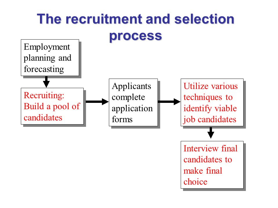 a look at the critical process of recruitment and selection in an organization In the workforce recruitment and selection process is a cornerstone of federal practices to ensure va remains a fair and high-performing organization in the.