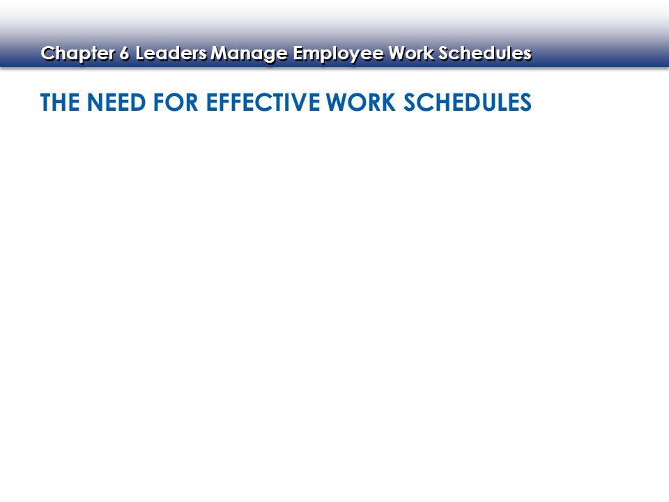 schedules work
