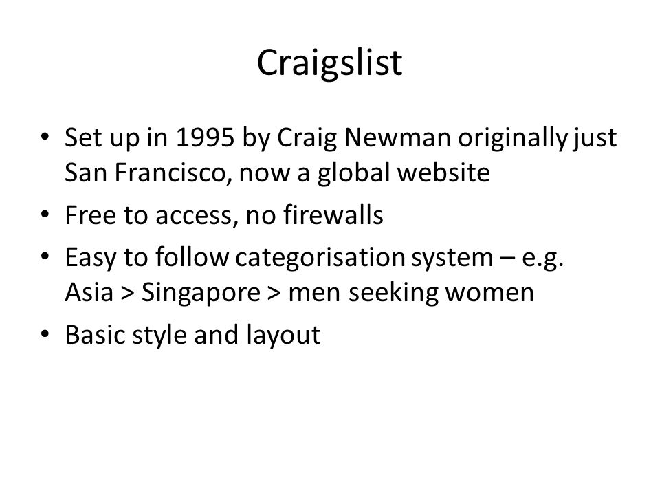 Craigslist san francisco men seeking women
