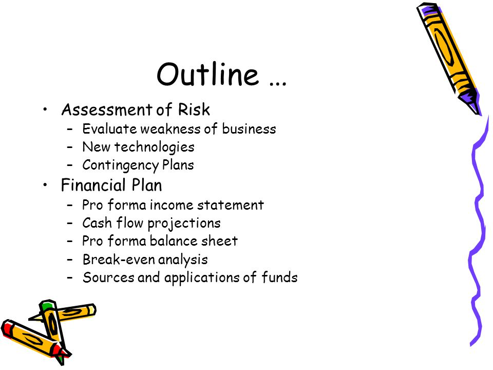 Outline … Assessment of Risk Financial Plan