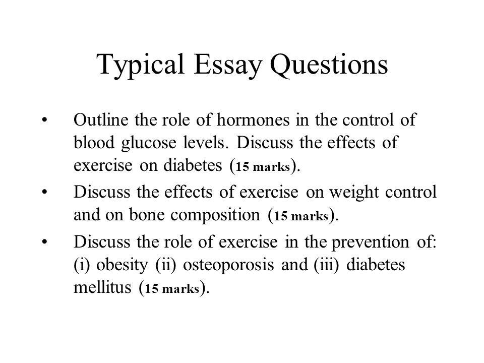 typical college essay questions