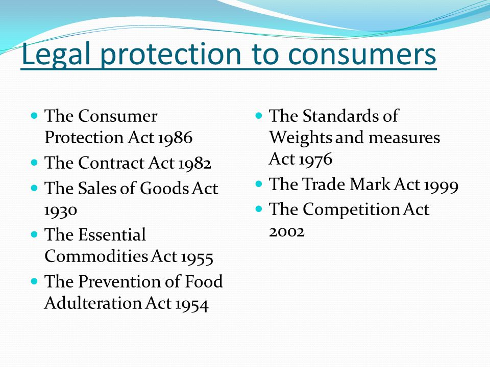 Food Safety and Consumer Protection Act.