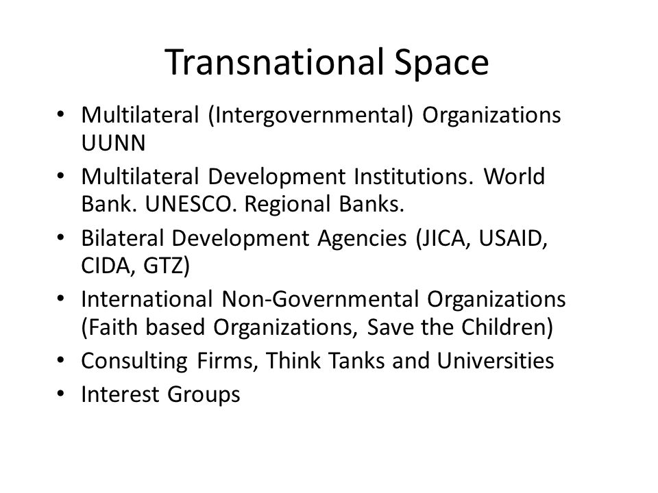 Universal and regional intergovernmental organizations