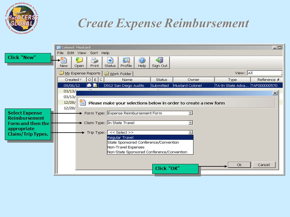Travel Advance And Expense Reimbursement Forms - Ppt Download