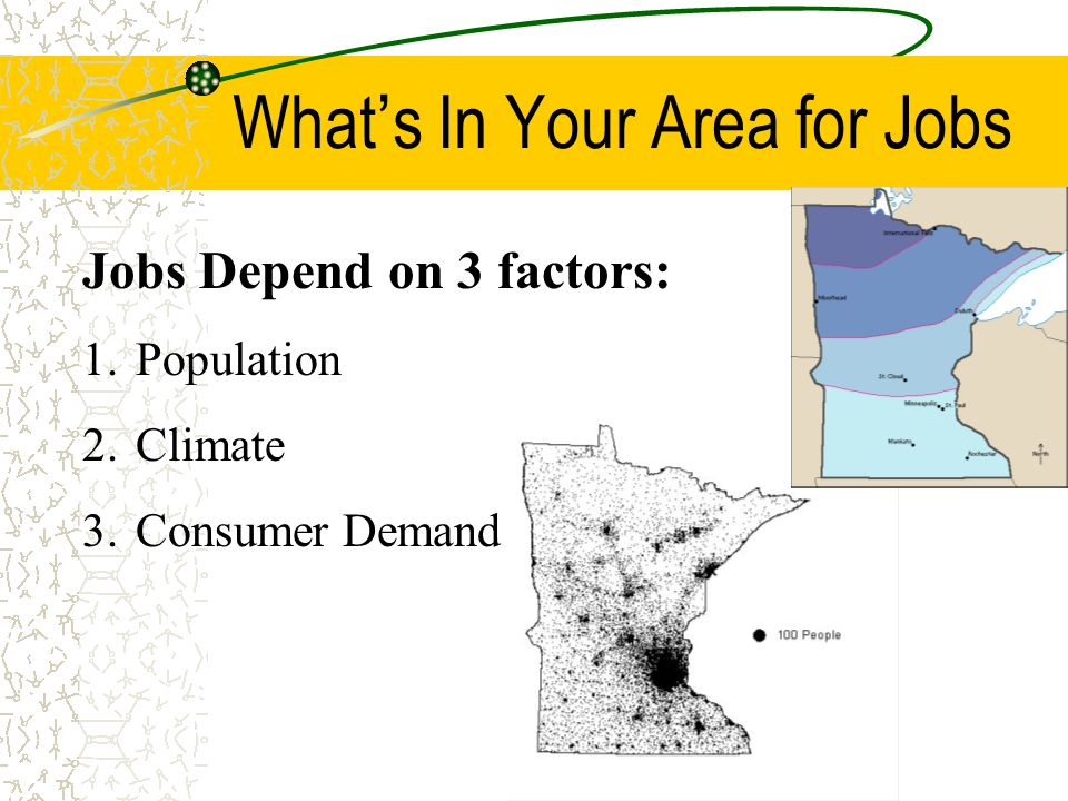 What's In Your Area for Jobs