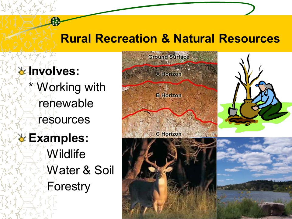 Rural Recreation & Natural Resources