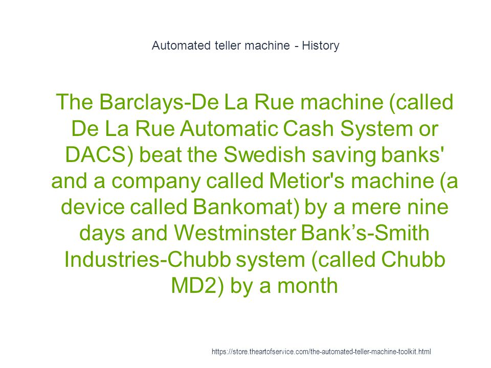 Automated teller machine - History