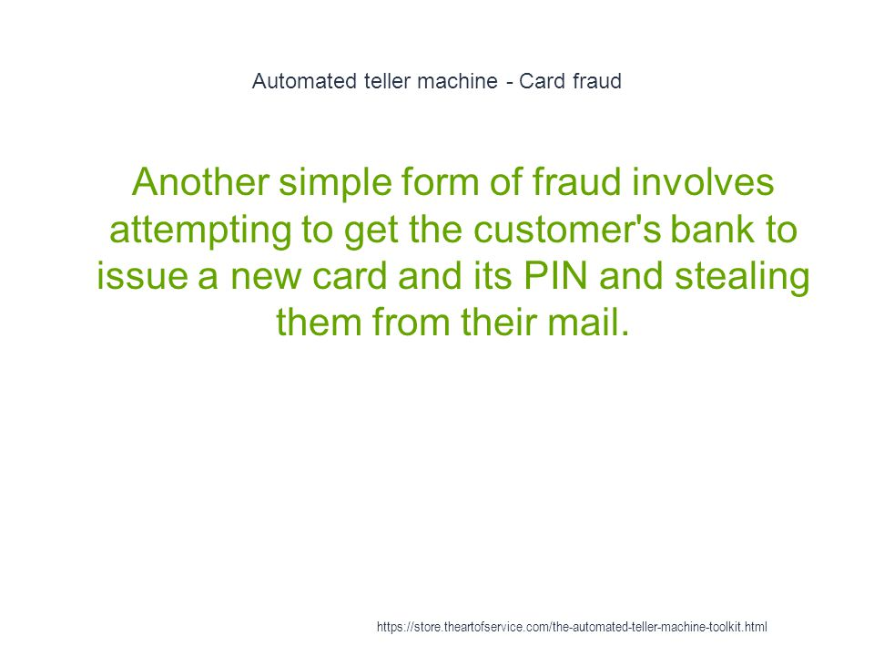 Automated teller machine - Card fraud