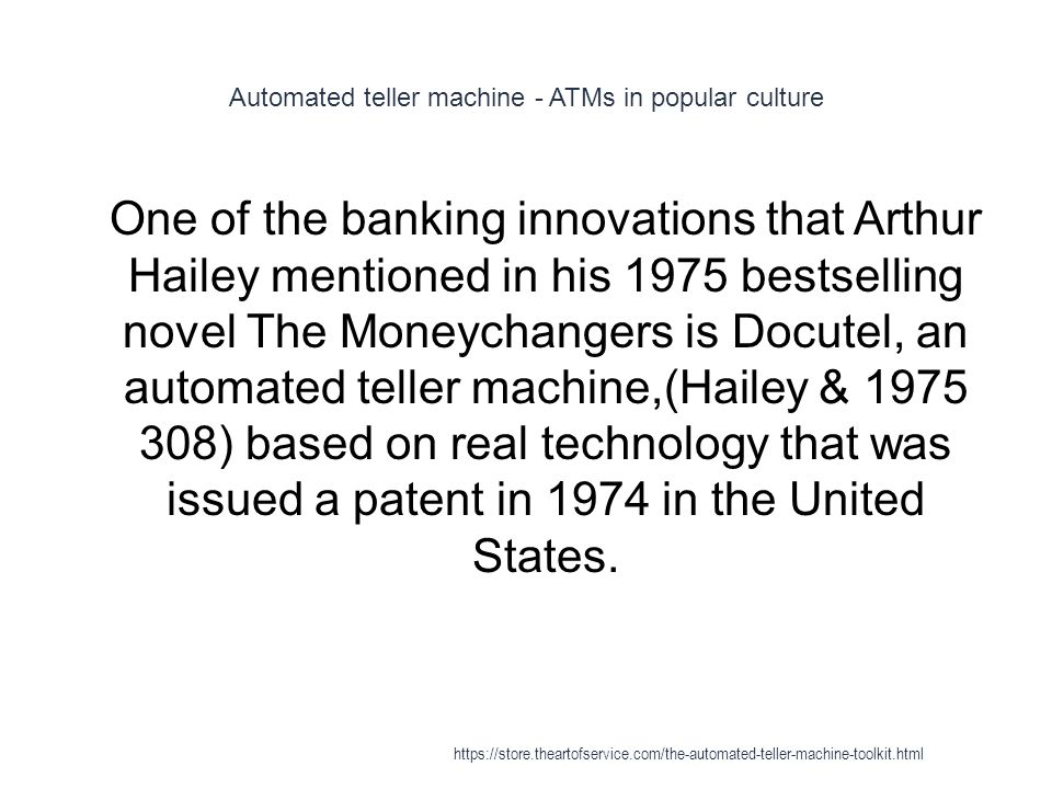 Automated teller machine - ATMs in popular culture