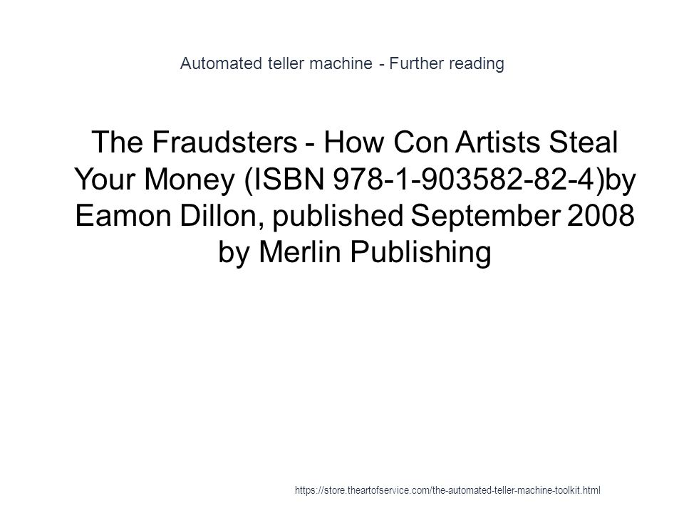 Automated teller machine - Further reading