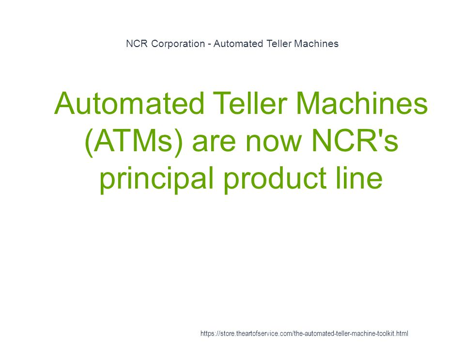 NCR Corporation - Automated Teller Machines