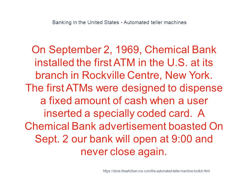 Banking in the United States - Automated teller machines