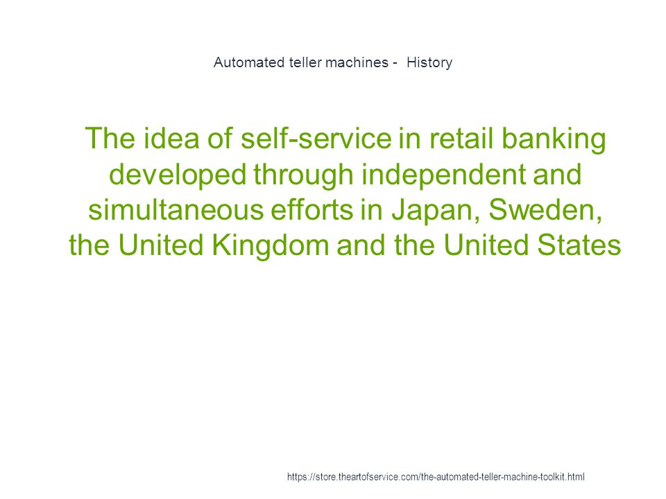 Automated teller machines - History