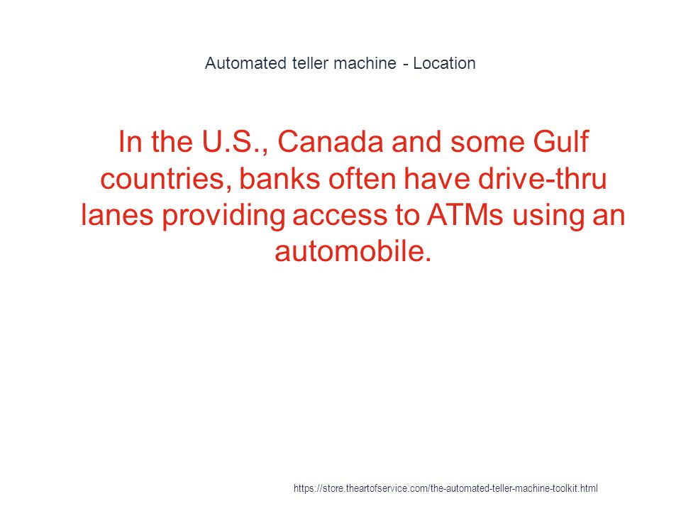 Automated teller machine - Location